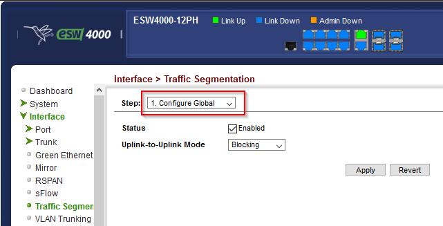 Traffic Segmentation aktivieren